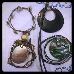 4 Necklaces with Statement Pendants